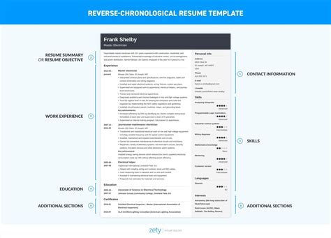 Chronological Resume Creator by Free Resume Help Milan Parents