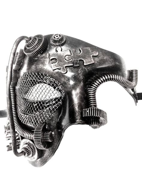 Steampunk Style Silver Phantom Half Face from skiverr