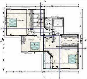 Modern Family House 2d Dwg Plan For Autocad  U2022 Designs Cad