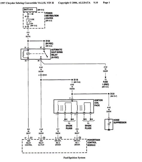 1997 Chrysler Distributor Wiring Schematic no spark caused by a shorted ignition coil