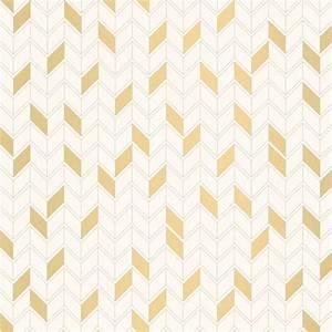 Papier Peint Noir Et Doré : papier peint renata 100 intiss motif graphique dor fond blanc ~ Melissatoandfro.com Idées de Décoration
