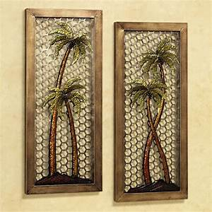 interior breathtaking metal wall art metal wall art With kitchen cabinets lowes with palm tree metal wall art