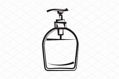 Soap Drawing Dispenser Hygiene Hand Freehand Illustrations