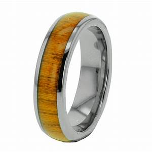 wood inlay tungsten band duo step edge women39s men39s With mens wedding rings with wood