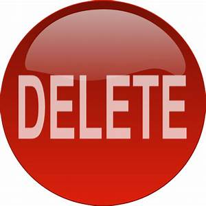 Red Delete Button Clip Art at Clker.com - vector clip art ...