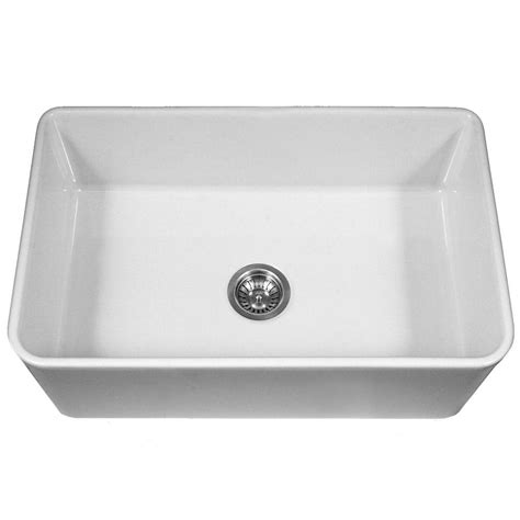 white kitchen sink faucets houzer platus series farmhouse apron front fireclay 33 in
