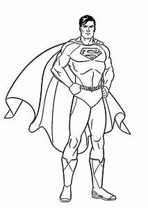 Superman Clipart Coloring Book Pencil And In Color