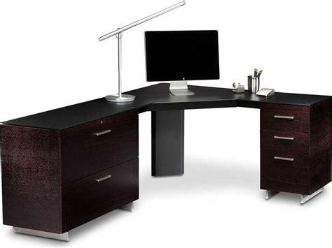 desk with keyboard drawer bdi sequel 43 39 39 black corner computer desk with keyboard