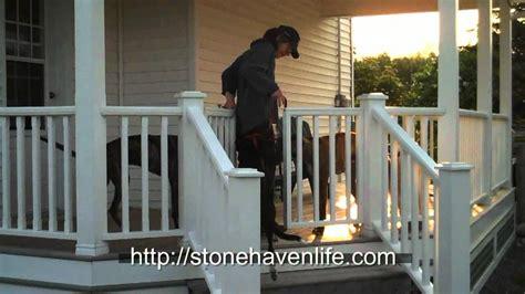 gate for front porch diy no sag deck gates for pets
