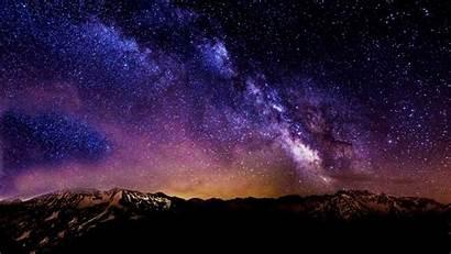 Sky Night Starry Moon Stars Skies Winter
