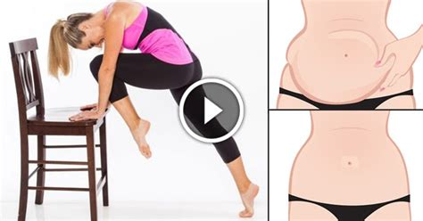 10 home chair exercises that will reduce your belly
