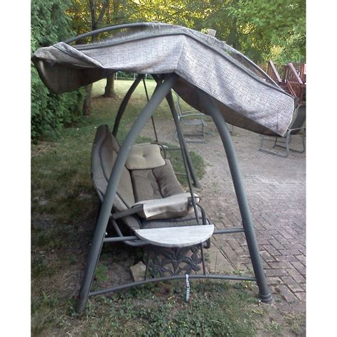 patio swing with canopy costco replacement canopy for costco lounge swing garden winds canada