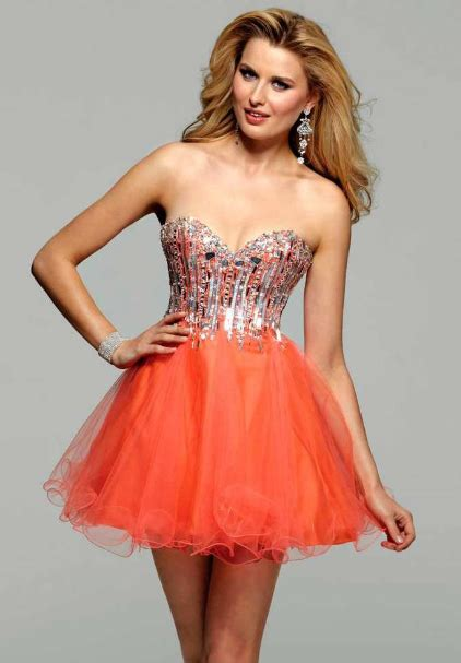 orange poofy prom dresses fashion belief