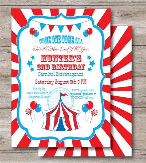 23+ Carnival Birthday Invitations Free PSD Vector EPS