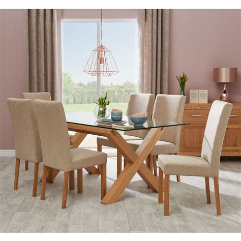 casa toledo glass table  upholstered chairs dining set