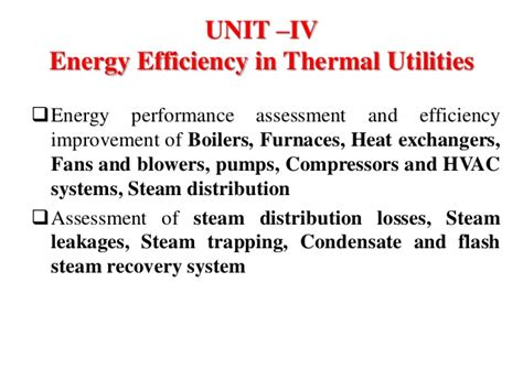 Energy Audit And Mgt Unit 4