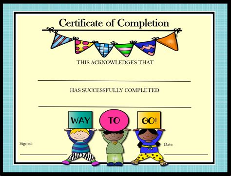 Free Award Certificate Templates For Students by Certificate Templates For Elementary School Professional