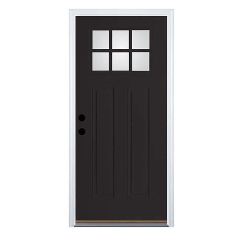 lowes craftsman door shop therma tru benchmark doors craftsman 6 lite clear