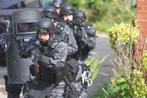 Police Swat Team in Action
