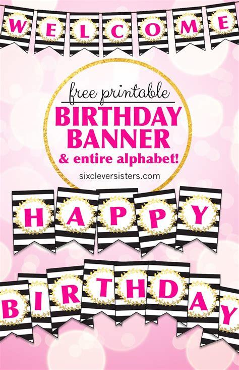 printable happy birthday banner  alphabet