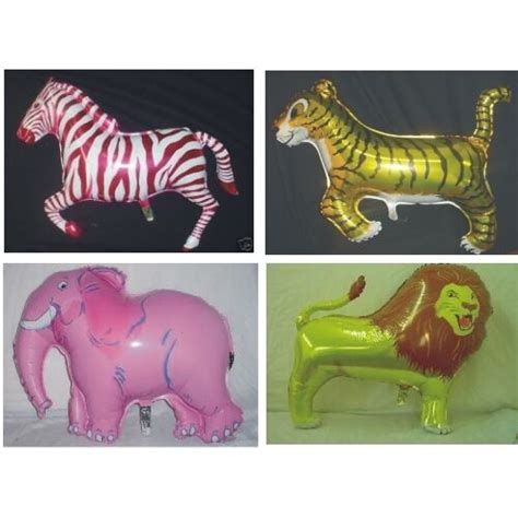 zoo animals supershape helium foil balloons ebay