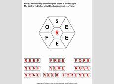 Make Words using Letters S E E E F O R Worksheet Turtle