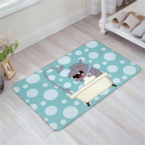hippo doormat hippo bath with print doormat welcome