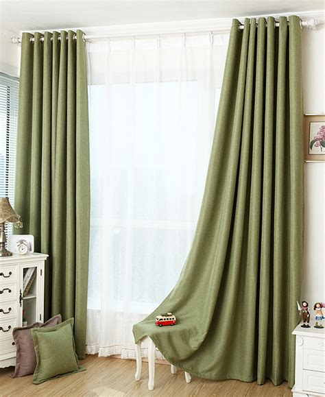 forest green blackout curtain insulation curtain