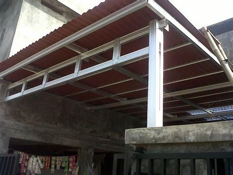 kanopi minimalis rangka galvanis atap onduline griya las