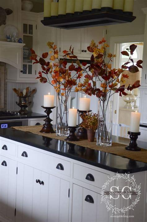 kitchen island centerpiece ideas 17 best ideas about fall kitchen decor on pinterest kitchen counter decorations countertop