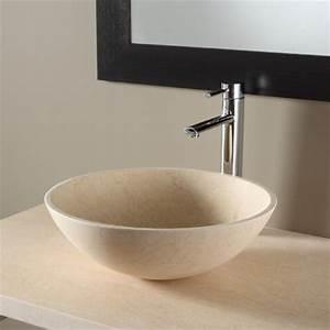 Vasque Salle De Bain En Pierre : vasque pour salle de bain vasques en pierre beige planete bain ~ Teatrodelosmanantiales.com Idées de Décoration