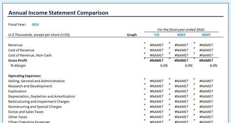 quarterly income statement template income statement