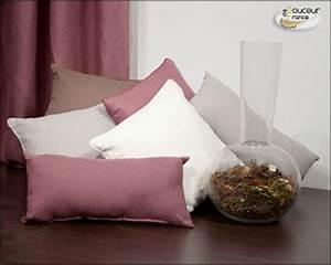 Coussin Rose Pale : linge de maison petit prix douceur de france le web communique ~ Teatrodelosmanantiales.com Idées de Décoration