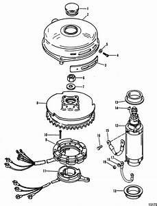 Mercury Marine 100 Hp  4 Cylinder  Flywheel  U0026 Starter Motor Parts
