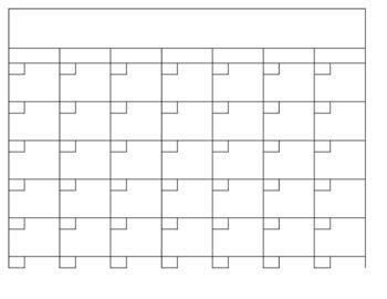 blank calendar template  excel blank calendar template