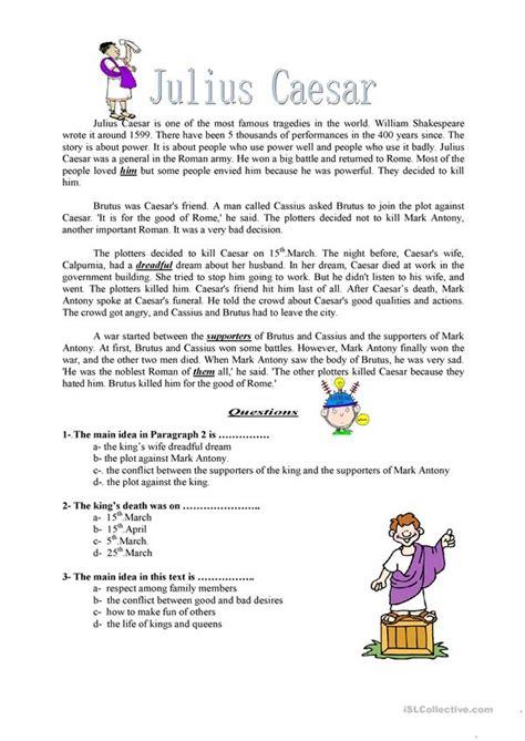 worksheets julius caesar julius caesar worksheet free esl printable worksheets made by teachers
