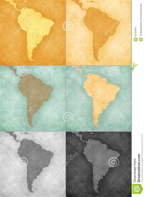 south america vintage map backgrounds stock illustration