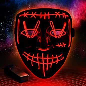 Amazon.com: Halloween Purge LED Mask Costume Festival
