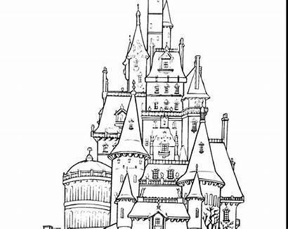 Disneyland Coloring Pages Rides Disney Castle Characters