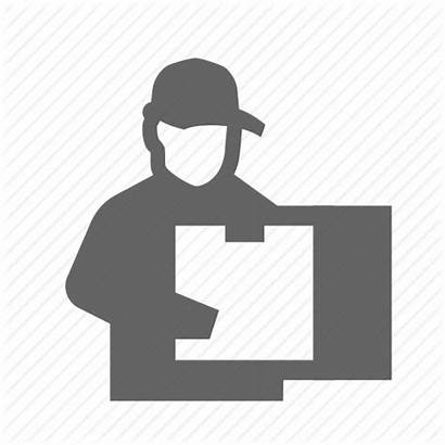 Icon Mailman Package Delivering Courier Container Service