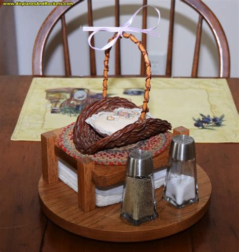lazy susan salt pepper napkin holder airplanes