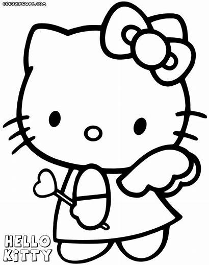 Kitty Coloring Hello Pages Valentines