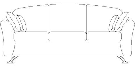 sofa 3 plazas dwg bloques autocad gratis de sof 225 en alzado de tres plazas