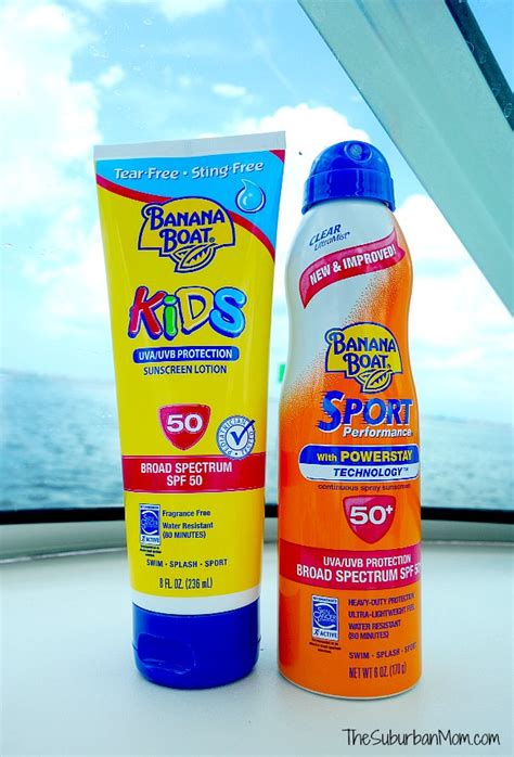 Banana Boat Sunscreen For Swimming by Family In The Sun 4 Tips For Sun Protection