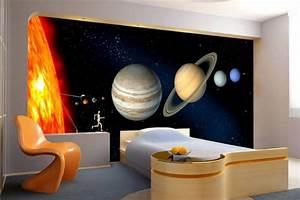 Papier Peint Ado : d co chambre systeme solaire ~ Dallasstarsshop.com Idées de Décoration