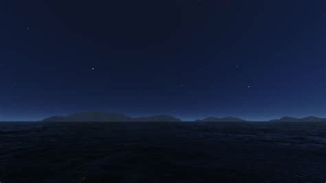 Wave Ocean At Stars Night Stock Footage Video 100