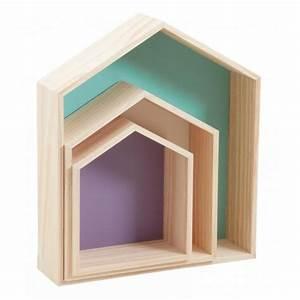 Etagere Maison Bois : etag res maisons en bois color es boisnature 39 l ~ Teatrodelosmanantiales.com Idées de Décoration