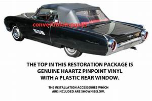 Ford Thunderbird Convertible Top Do It Yourself Package