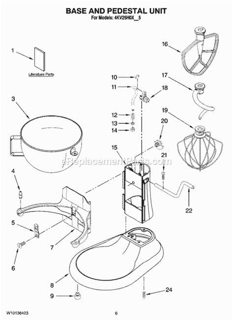 Kitchenaid Kvhxer Parts List Diagram