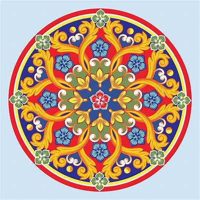 Mandala Vector Colorful Round Ornamental Illustration Ethnic
